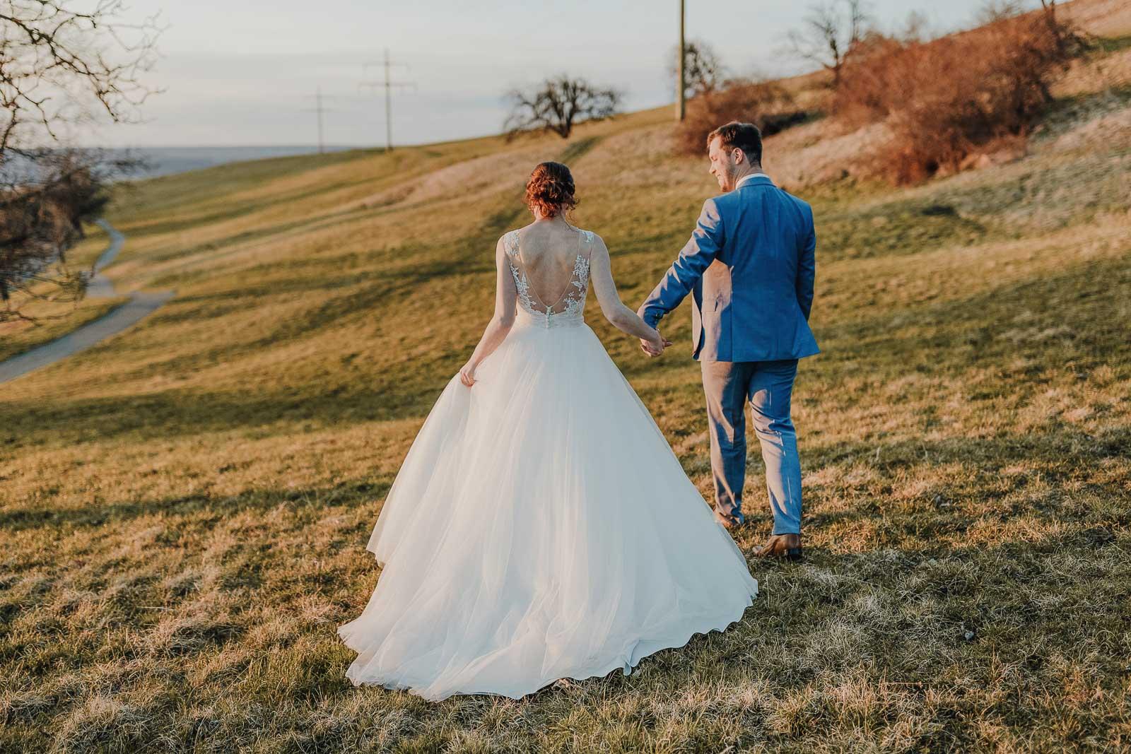 Hochzeit Fotograf Achalmhotel Abend Spaziergang