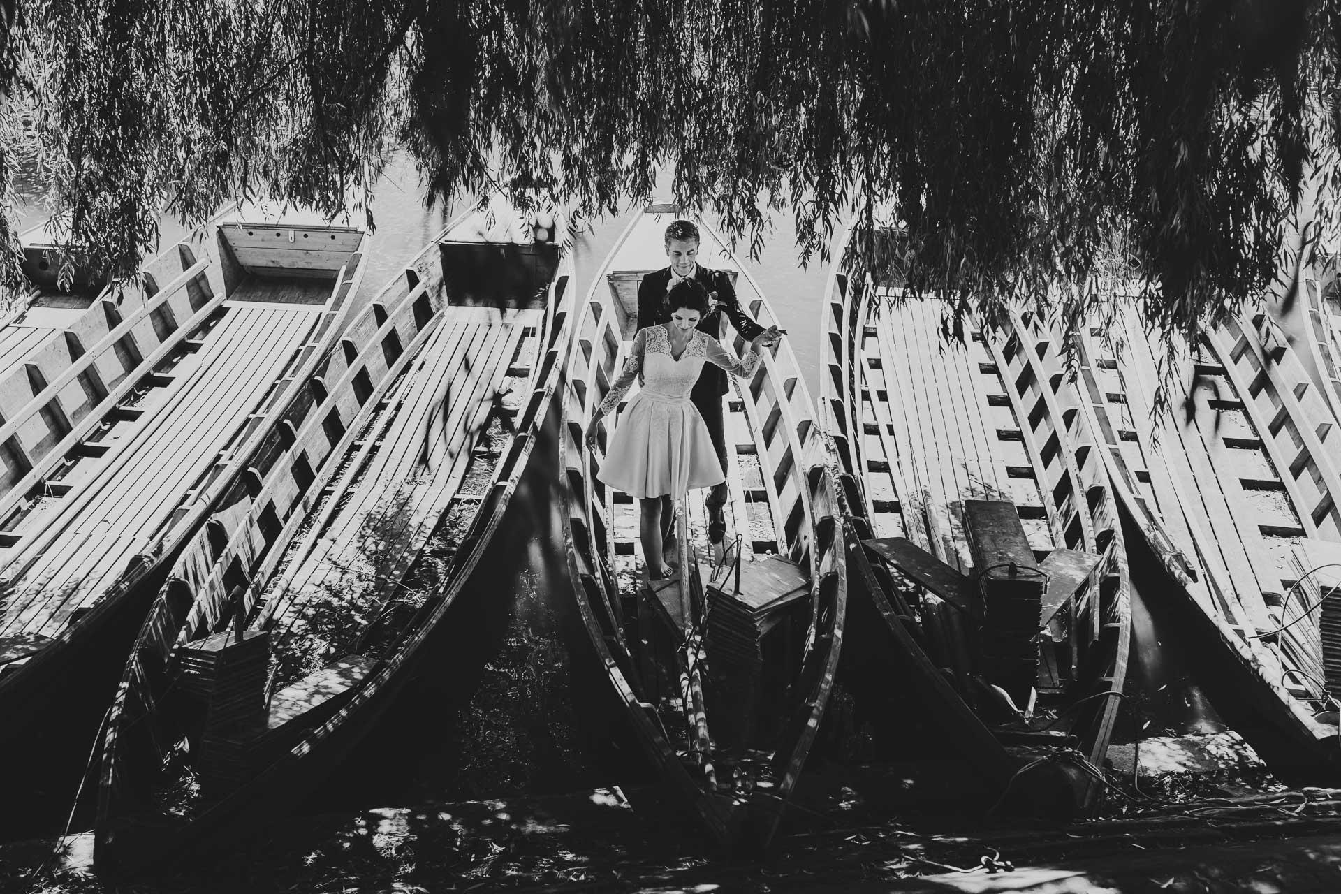 Hochzeit Videograf Stuttgart Boote verliebtes Paar